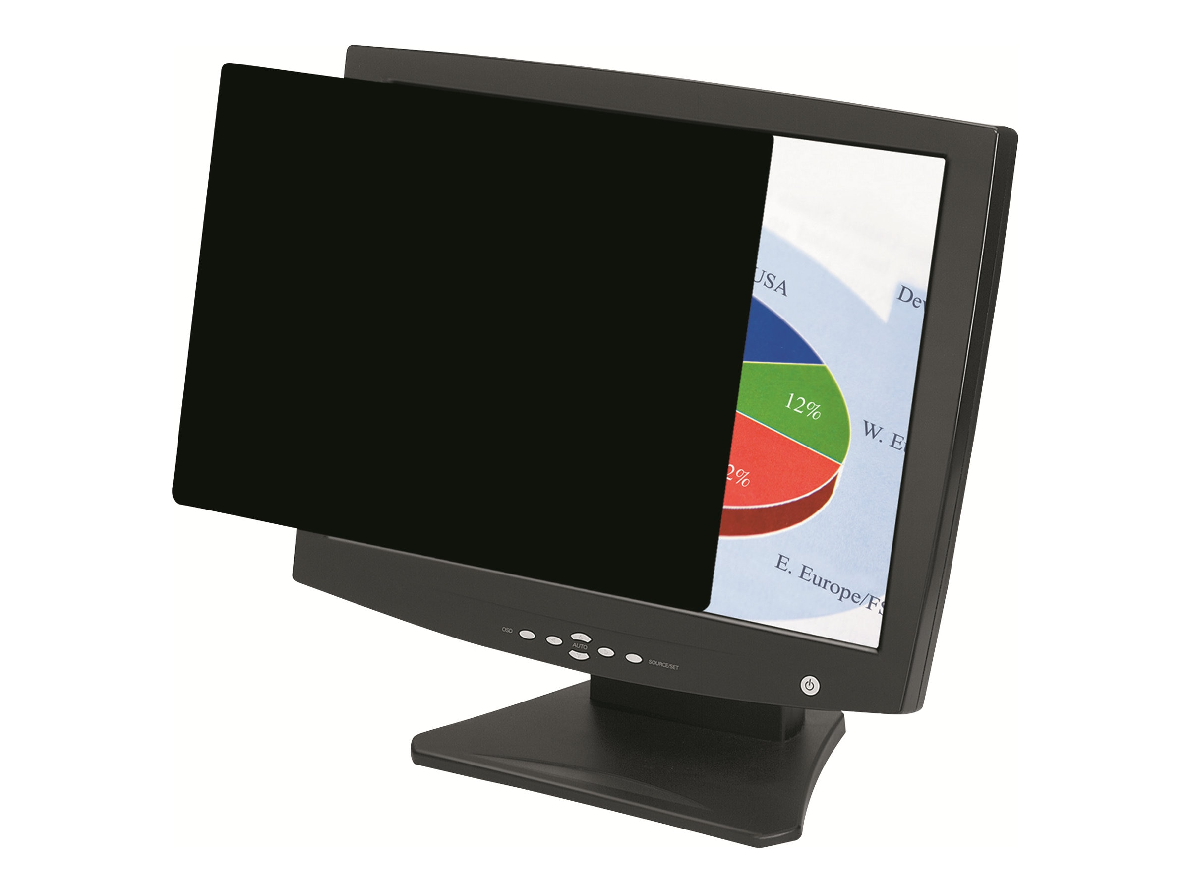 Fellowes 19 Widescreen Privacy Blackout Filter, 4801101, 9279360, Glare Filters & Privacy Screens