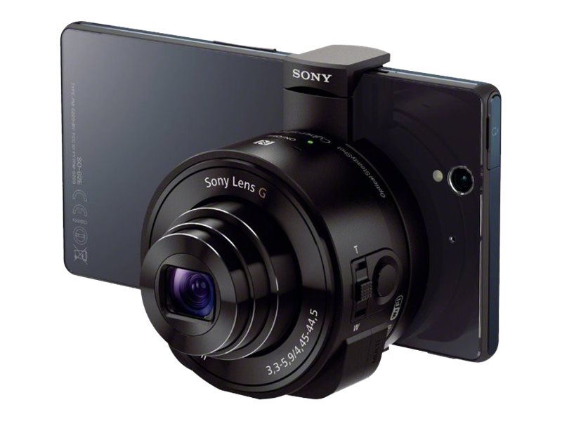 Sony Smartphone Attachable Lens-Style Camera, 18MP 10x Optical HD Video, DSCQX10/B, 16224691, Cameras - Digital - Point & Shoot