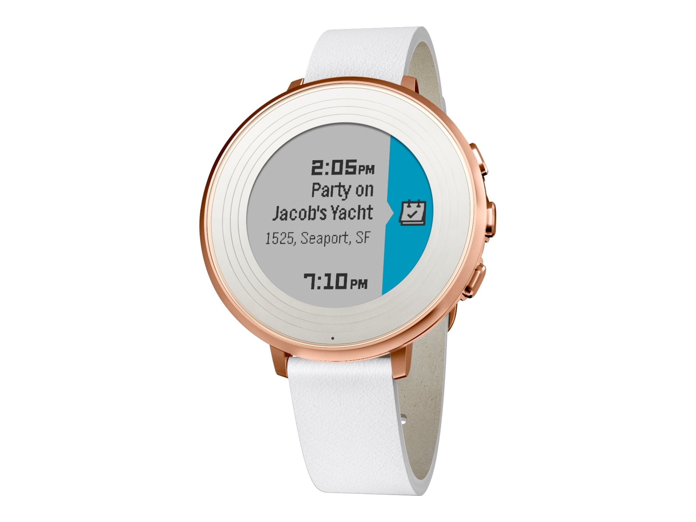 Pebble Round S4.0 Smartwatch, Rose Gold, 14mm