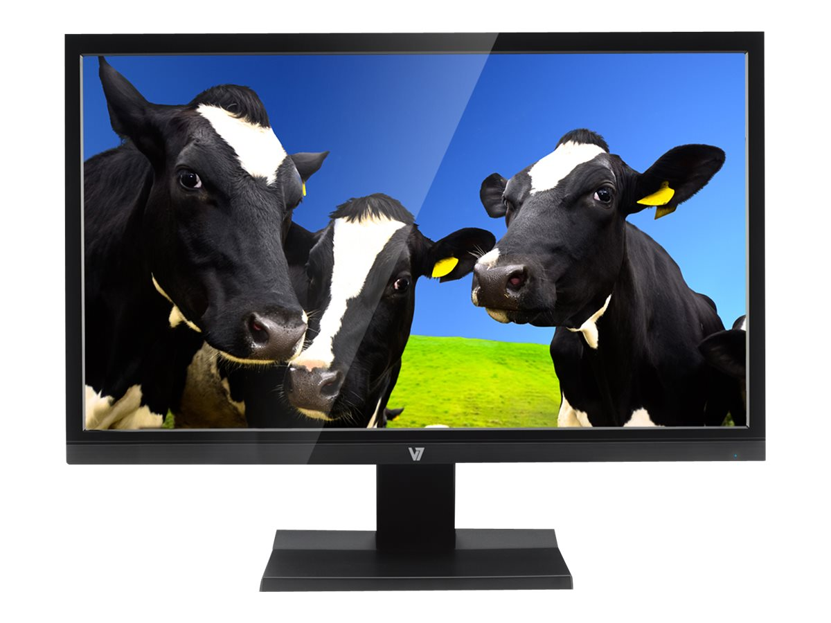 V7 21.5 L21500WDS-9N Full HD LED-LCD Monitor, Black, L21500WDS-9N, 17091711, Monitors - LED-LCD