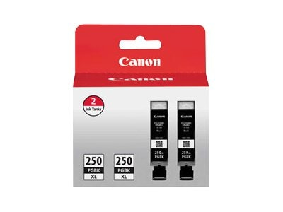Canon PGI-250PGBK XL Black Ink Cartridges (2-pack), 6432B004