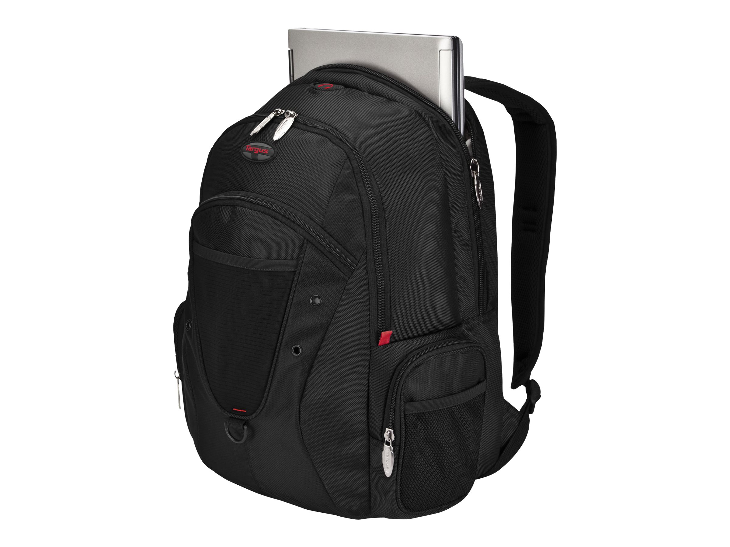 Targus 16 Expedition Backpack, Black Red Accents