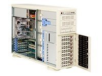 Supermicro Barebone A+ Server AS4020A-8R 4U Rack Tower, Dual AMD, 8xSCSI HS, DDR, 2GbE, FDD, 760W, Beige, AS-4020A-8R, 6466362, Barebones Systems