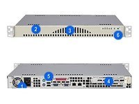 Supermicro Chassis, 1U Rackmount, 2 Bays, ATX, 260W PS, Beige, CSE-512L-260, 6454151, Cases - Systems/Servers