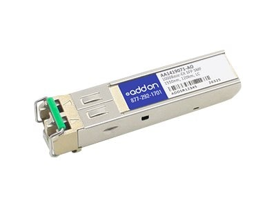 Add On 1000BASE-EZX SFP SMF F Nortel 1550NM 120KM LC DOM, AA1419071-AO, 16223268, Network Transceivers