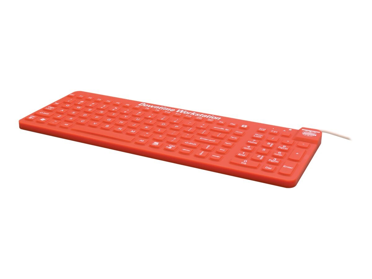 Man & Machine ReallyCool Waterproof Silicone Keyboard, Red, ECOOL/MAG/R5, 17047817, Keyboards & Keypads