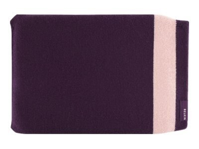 Belkin Knit Sleeve for iPad, Perfect Plum, F8N276TT091, 11528151, Protective & Dust Covers