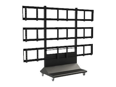 Peerless 3x3 Video Wall Cart, DS-VWC655-3X3, 13537376, Stands & Mounts - AV