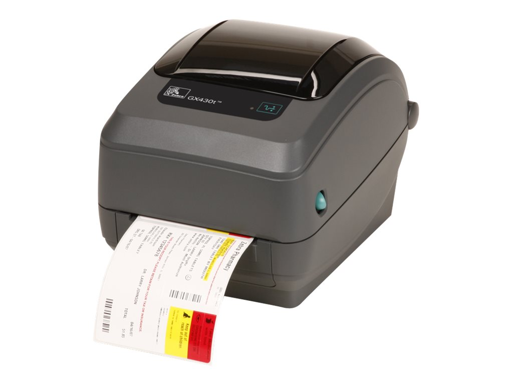 Zebra GX430t Direct Thermal-Thermal Transfer 300dpi USB Serial CP Printer, GX43-102511-000, 13277957, Printers - Label