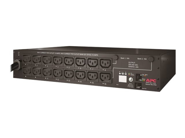 APC Rack PDU, Switched, 2U, 30A, 208V, (16)  C13 Outlets, AP7911A