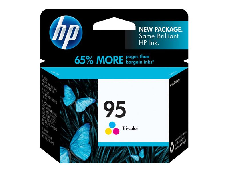 HP 95 (C8766WN) Tri-color Original Ink Cartridge, C8766WN#140, 6120960, Ink Cartridges & Ink Refill Kits