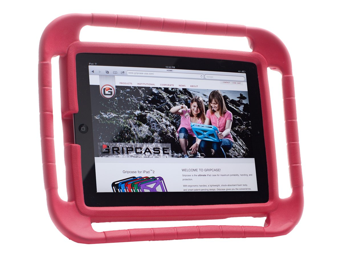 Gripcase EVA Foam Protective Case for iPad 2 3, Red (Bulk)