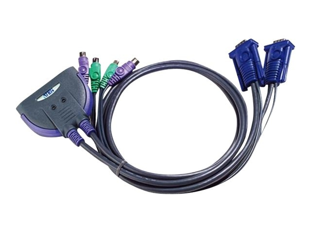 Aten Master View KVM Switch with Built-in 4 Cables, CS62, 8574527, KVM Switches