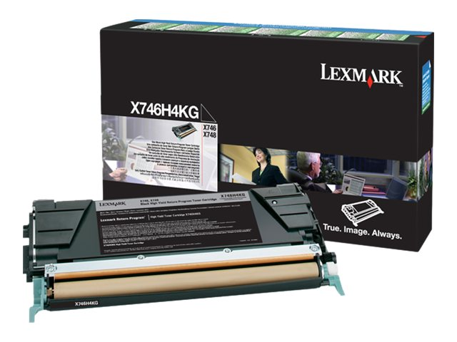 Lexmark Black High Yield Return Program Toner Cartridge for X746de & X748 Series MFPs (TAA Compliant), X746H4KG, 14291785, Toner and Imaging Components