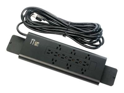 Bretford Manufacturing Electrical Unit (12) Outlet 20ft Cord, Winder, Black, E12, 11547175, Power Strips
