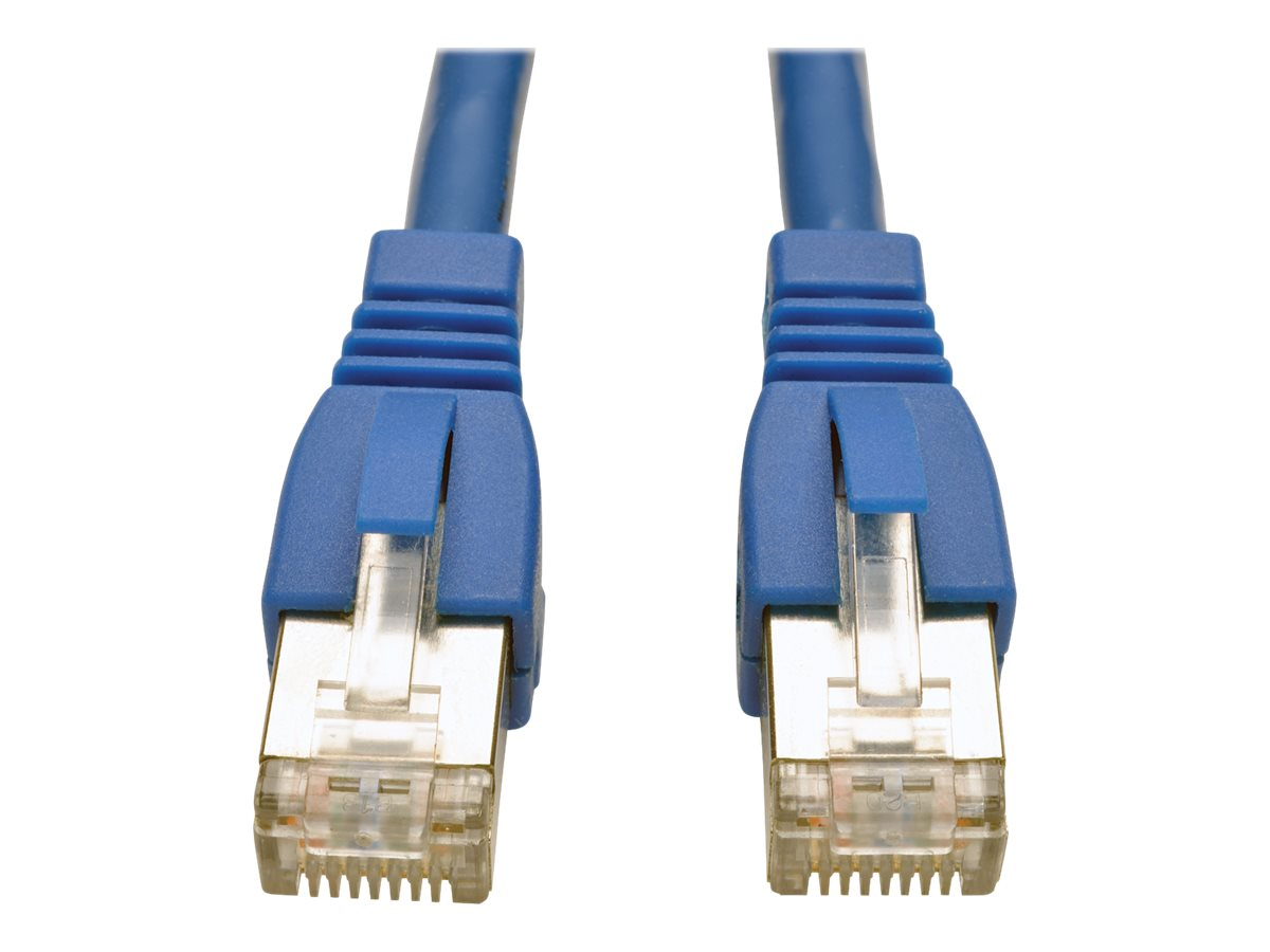 Tripp Lite Augmented Cat6 Shielded STP Snagless Patch Cable, Blue, 1ft, N262-001-BL, 21982859, Cables