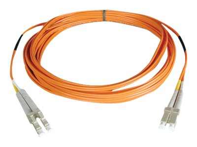 Tripp Lite Fiber Patch Cable, LC-LC, 50 125, Multimode, Duplex, Orange, 12m, N520-12M, 11557331, Cables