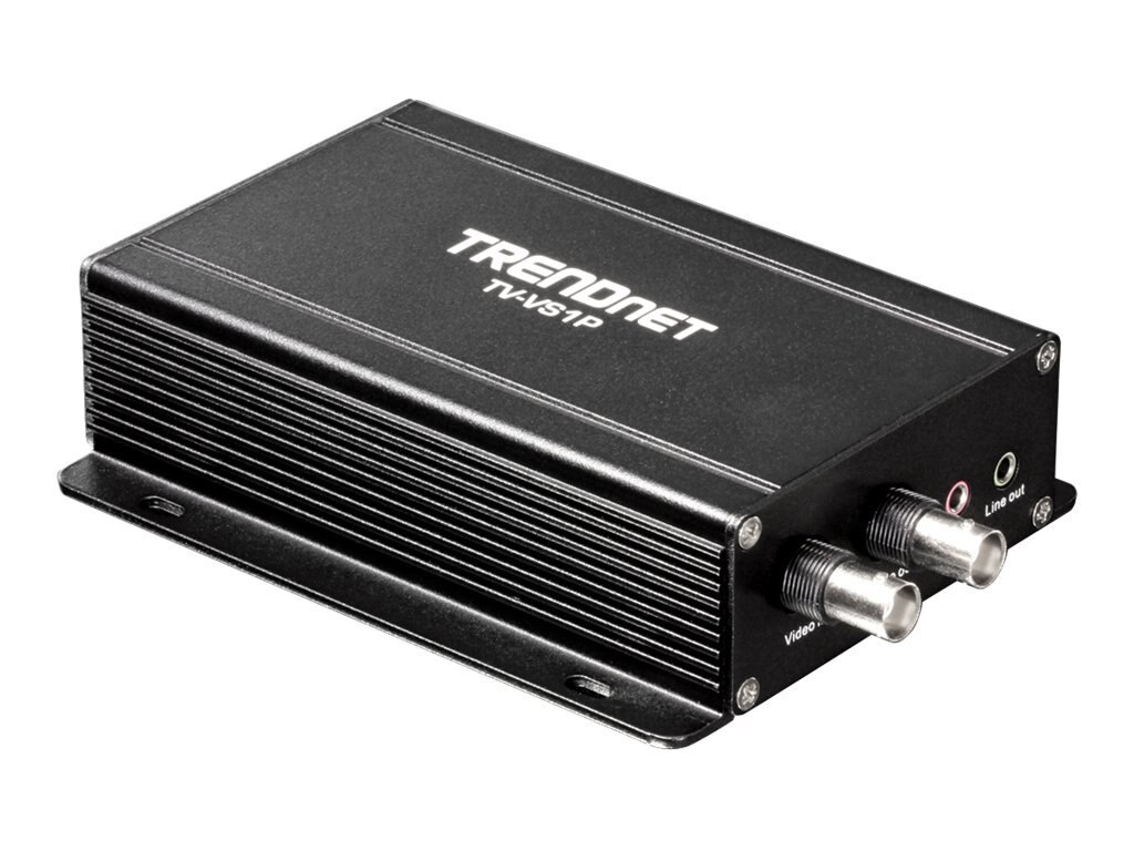 TRENDnet Single Channel PoE Analog to IP Video Encoder, TV-VS1P