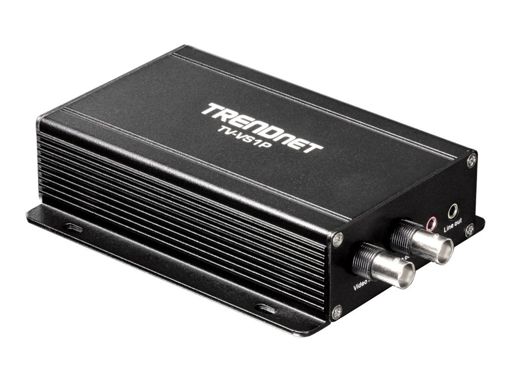 TRENDnet Single Channel PoE Analog to IP Video Encoder, TV-VS1P, 13213988, Security Hardware
