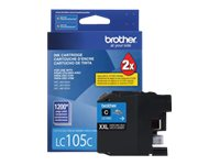 Brother Cyan LC105C Innobella Super High Yield (XXL Series) Ink Cartridge for MFC-J4510DW, LC105C, 14714821, Ink Cartridges & Ink Refill Kits