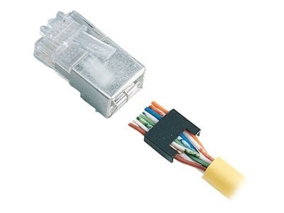 Black Box CAT5 Modular Plug, Stranded Conductor, Shielded - 25-Pack, FMTP5S-STR, 17563070, Cable Accessories