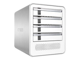Icy Dock ICYCube MB561U3S-4S R1 4x3.5 or 2.5 SATA Bay Enclosure, White, MB561U3S-4S R1, 32152914, Hard Drive Enclosures - Multiple