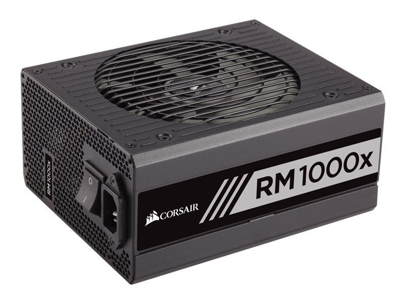 Corsair RM1000x 1000W 80 PLUS Gold Certified Fully Modular Power Supply Unit, CP-9020094-NA