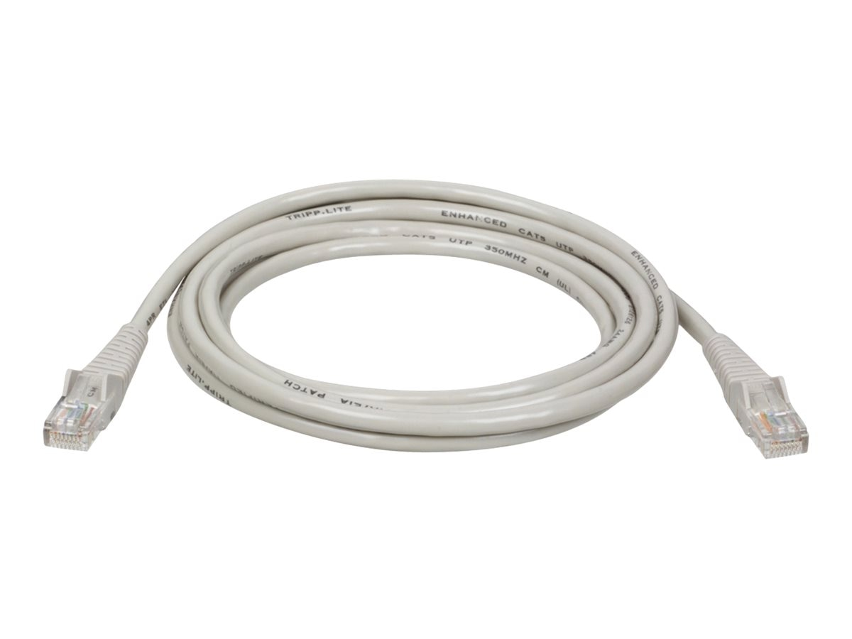 Tripp Lite Cat5e RJ-45 M M Snagless Molded Patch Cable, Gray, 14ft, N001-014-GY, 285997, Cables