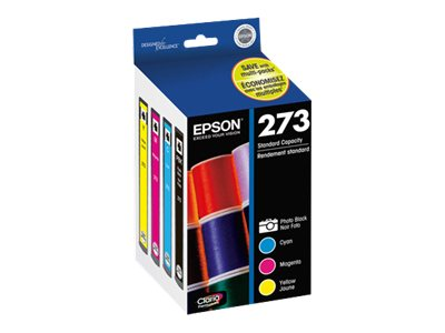 Epson Color #273 Claria Premium Ink Cartridge Multi-pack, T273520, 15256674, Ink Cartridges & Ink Refill Kits