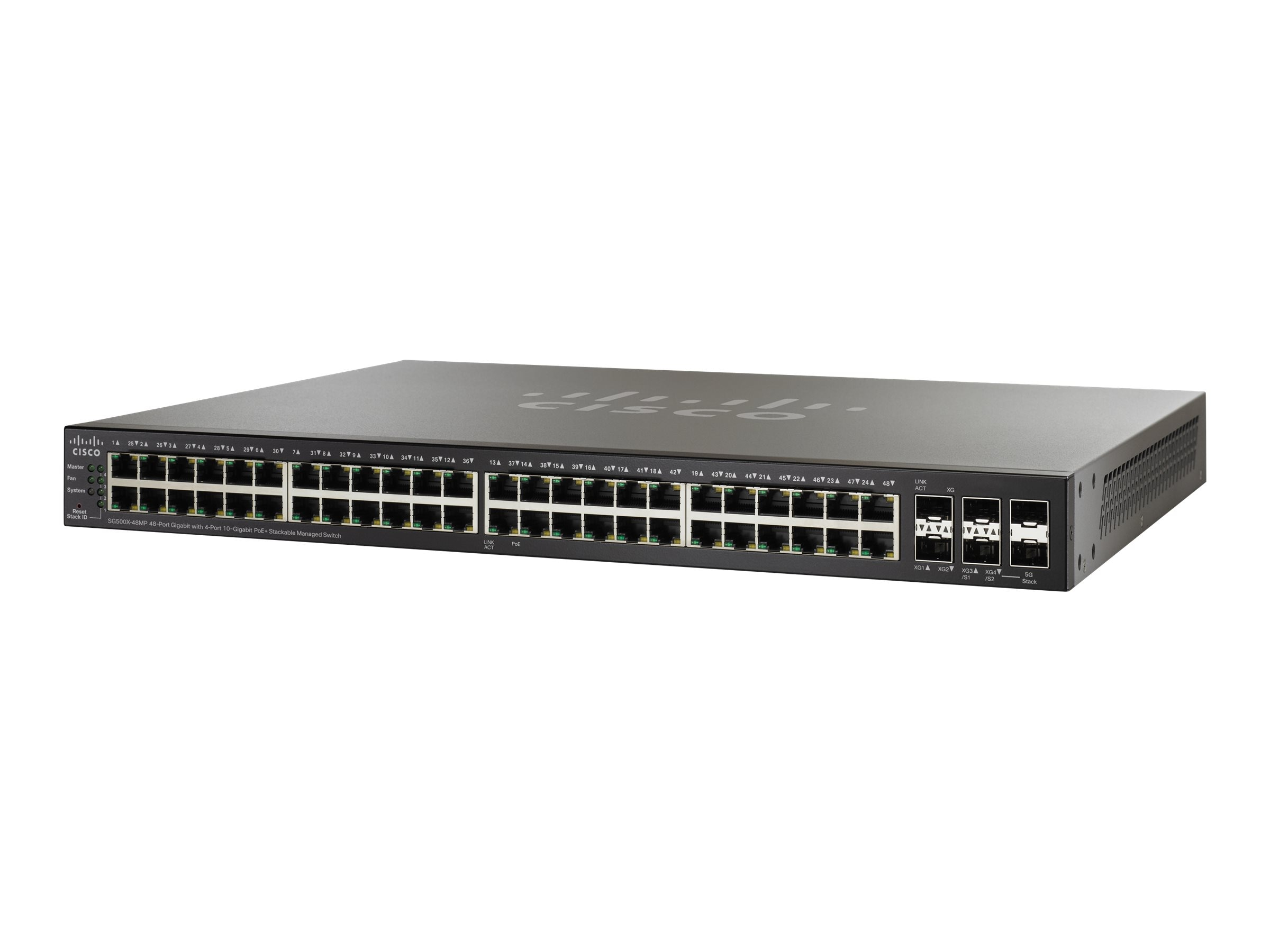 Cisco SG500X-48MPP 48PT Gigabit Switch + 4 10-GIG MAX POE, SG500X-48MP-K9-NA, 17345312, Network Switches