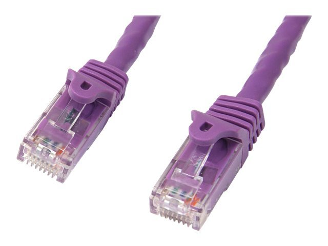 StarTech.com Cat6 Snagless Patch Cable, Purple, 10ft, N6PATCH10PL, 11601928, Cables