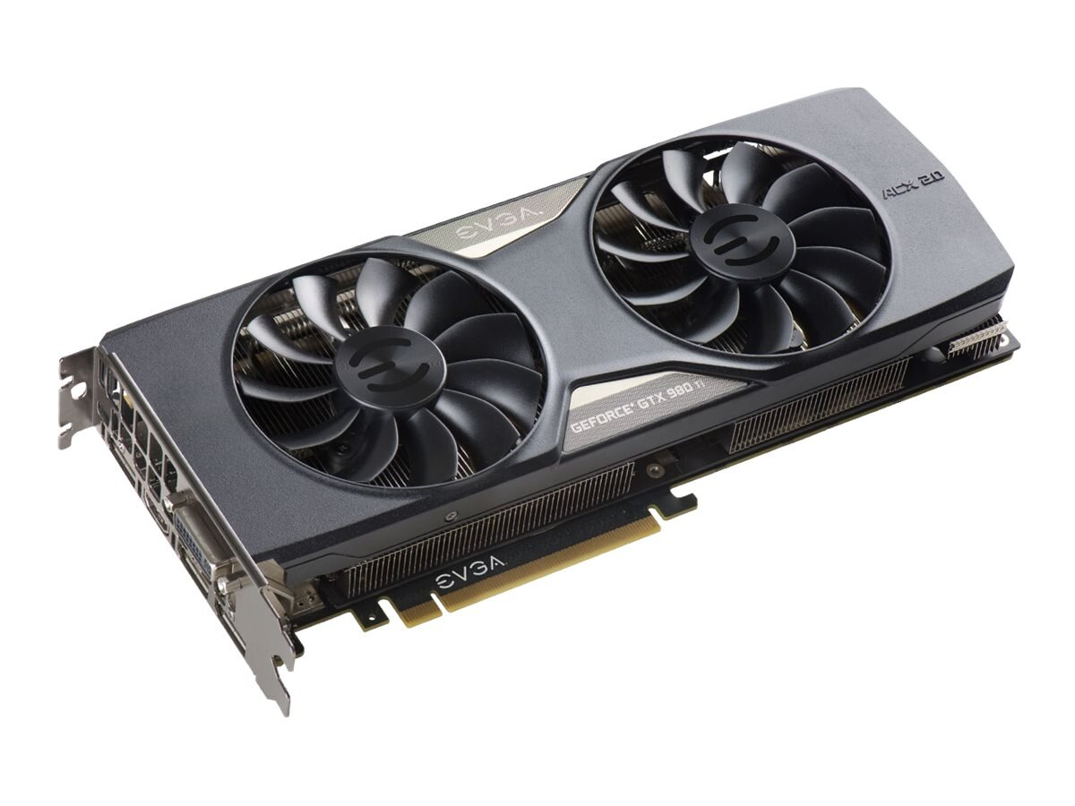 eVGA GeForce GTX 980 Ti ACX 2.0+ PCIe 3.0 x16 Graphics Card, 6GB GDDR5, 06G-P4-4991-KR, 22615065, Graphics/Video Accelerators