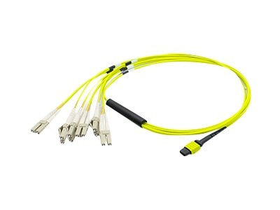 ACP-EP MPO to 6xLC Duplex Fanout SMF Patch Cable, Yellow, 15m, ADD-MPO-6LC15M9SMF