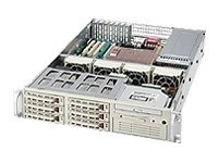 Supermicro Chassis, SC823 S-550LP, 2U Rack-mountable, Dual Xeon, EATX, 8 Bays, FDD, 550W PS, Beige, CSE-823S-550LP, 6453895, Cases - Systems/Servers