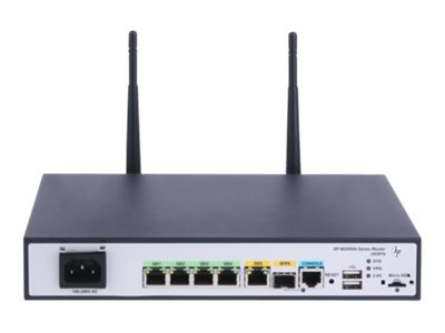 HPE MSR954-W 1GbE SFP (WW) 2GbE-WAN 4GbE-LAN Wireless 802.11n CWv7 Router, JH297A, 30946059, Wireless Routers