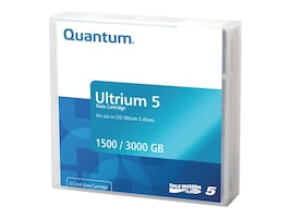 Quantum LTO-5 Ultrium Data Cartridge, MR-L5MQN-01, 11221790, Tape Drive Cartridges & Accessories