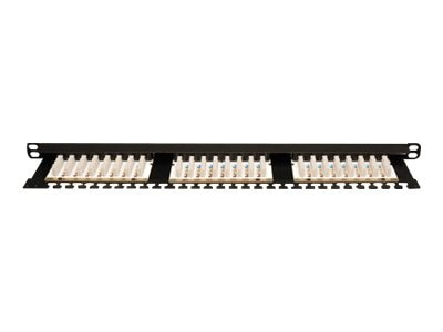 Tripp Lite 24-port Cat6 Half-U Patch Panel 0.5U RM 568A 568B TAA GSA, N252-024-HU