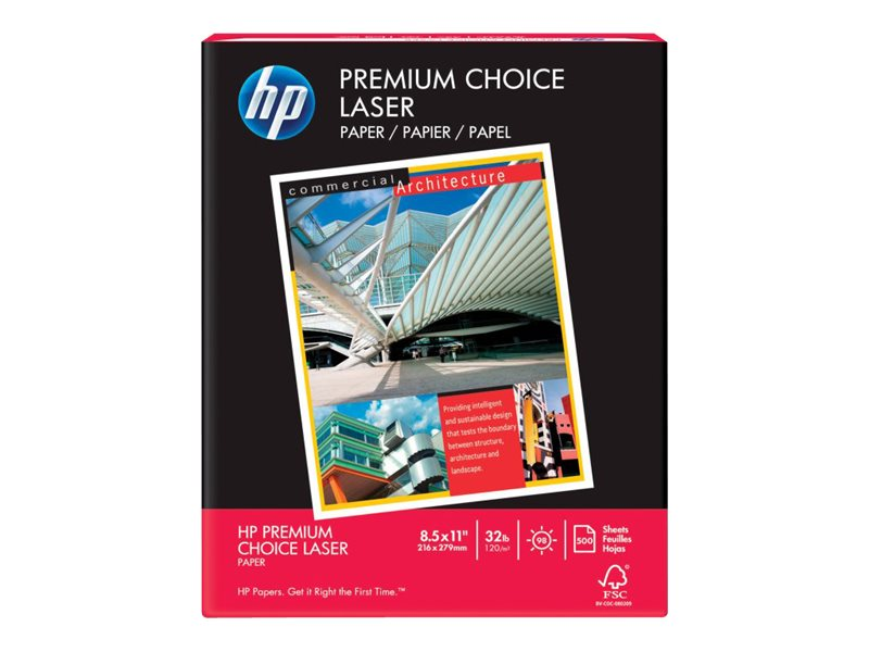 HP 8.5 x 11 Premium Choice LaserJet Paper (500-sheets), HEW113100, 5345665, Paper, Labels & Other Print Media