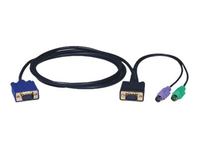 Tripp Lite KVM PS 2 Switch Cable Kit, Black, 6ft, P750-006, 6270239, Cables