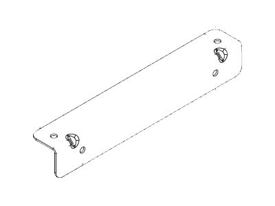 Chatsworth Wall Angle Support Kit, Black, 11421-704, 9407237, Rack Mount Accessories