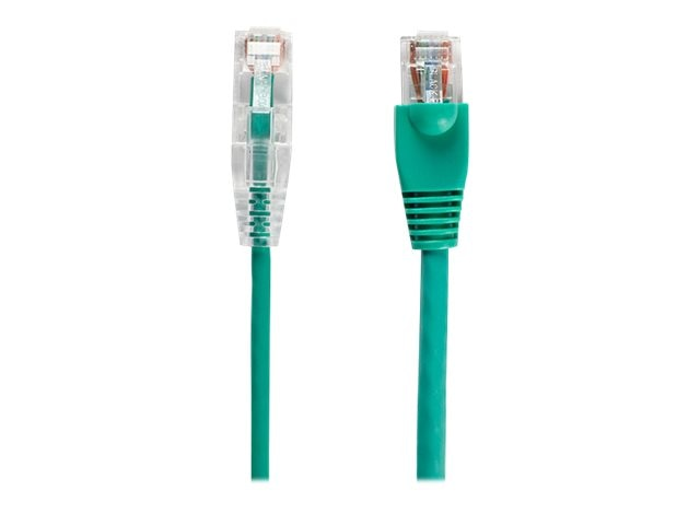 Black Box Slim-Net CAT6 28AWG 250MHz Patch Cable, Green, 1ft