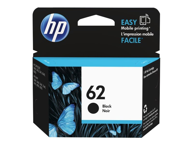 HP 62 (C2P04AN) Black Original Ink Cartridge, C2P04AN#140, 17462973, Ink Cartridges & Ink Refill Kits