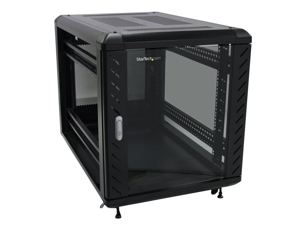 StarTech.com Server Rack Cabinet with Casters, Knock-down, 12U, 36, Black