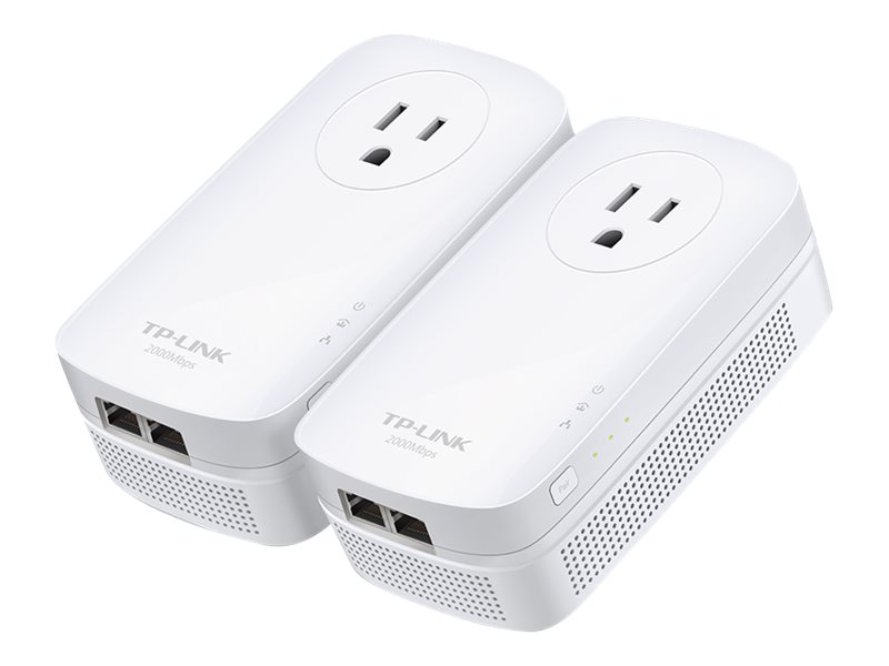 TP-LINK AV2000 2-Port Gigabit Passthrough Powerline Starter Kit (2-Pack)