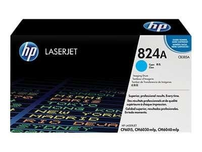 HP 824A Cyan Image Drum for HP Color LaserJet CP6015 & CM6040 mfp Printers, CB385A