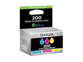 Lexmark Color #200 Ink Cartridges (Tri-Pack), 14L0268, 13306658, Ink Cartridges & Ink Refill Kits