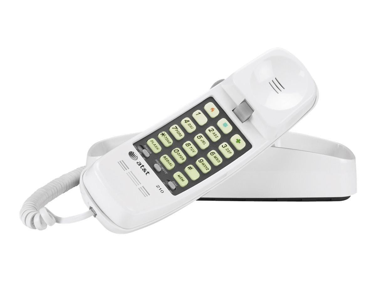 AT&T 210M Trimline® Corded Telephone (White), TL-210 WH, 10014713, Telephones - Consumer