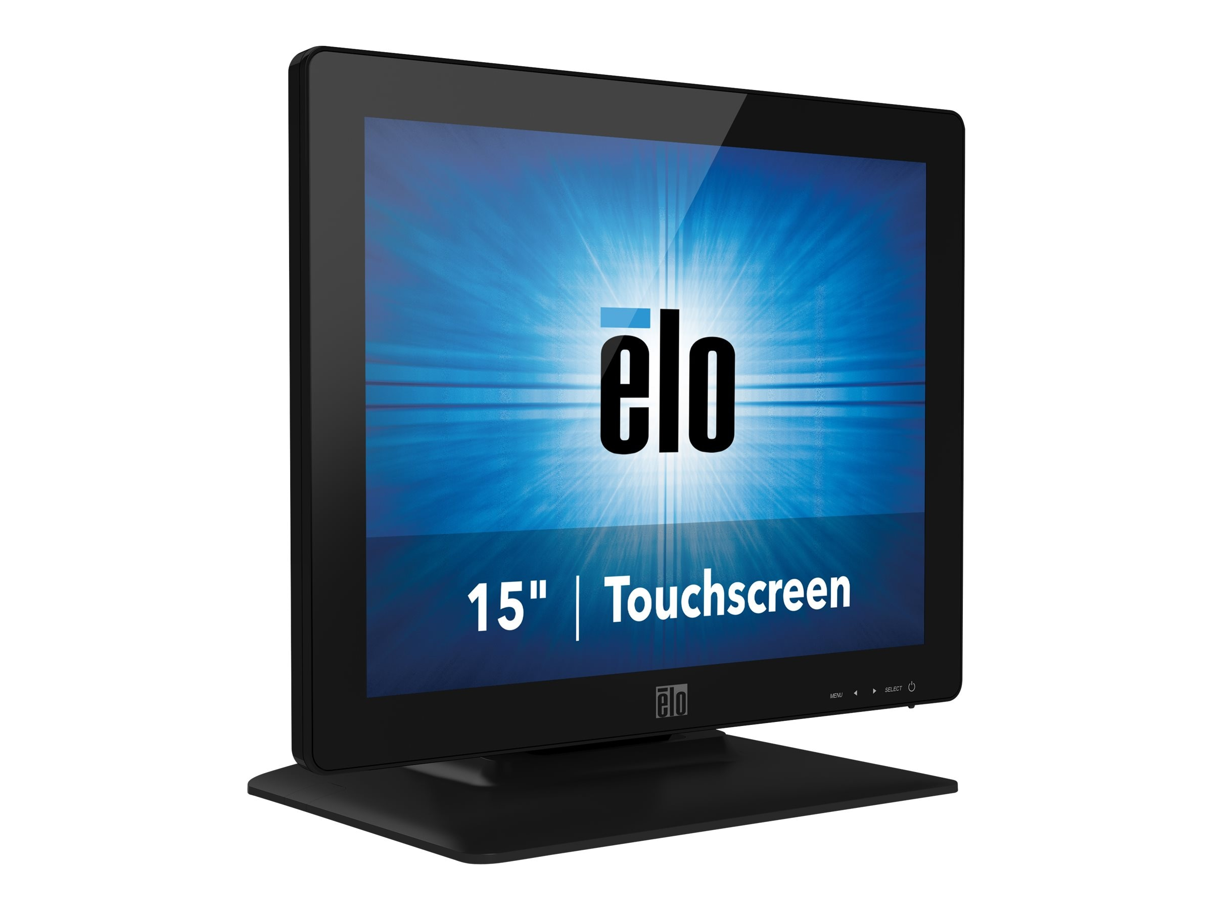 ELO Touch Solutions 15 1523L LED-LCD IntelliTouch Pro PCAP Monitor, Black, E336518