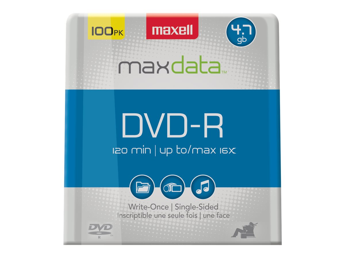 Maxell 16x DVD-R Media (100-pack Spindle), 638014, 6402289, DVD Media