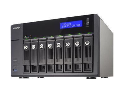 Qnap TVS-871 8-Bay Intel I5 3.0 2C 8GB 4LAN 10GB NAS, TVS-871-I5-8G-US, 18386626, Network Attached Storage